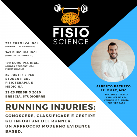 RUNNING INJURIES:  conoscere, classificare e gestire gli infortuni del Runner. Un approccio moderno Evidence Based.