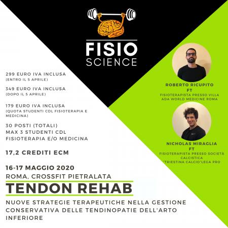 TENDON REHAB: Nuove strategie terapeutiche nella gestione conservativa delle tendinopatie dell'arto inferiore