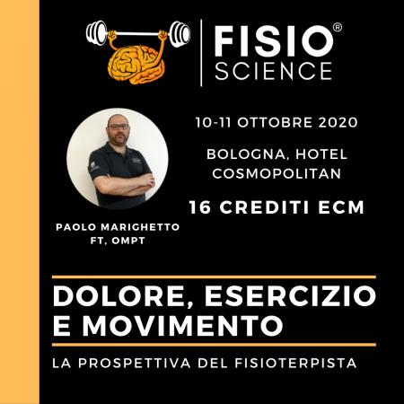 DOLORE, ESERCIZIO, MOVIMENTO: la prospettiva del fisioterapista – 6° Edizione